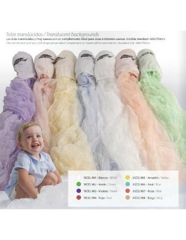 Tissu blanc translucide ref. 901