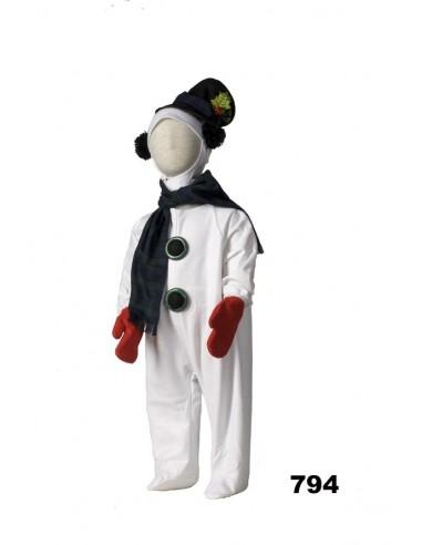 Disfraz muñeco de nieve