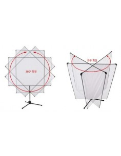 Panel reflector 100x180cm