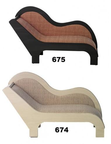 small brown divan 675