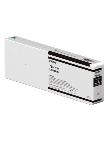 Epson T804700 Black Light UltraChrome HDX 700ml / HD pour Epson P6000 / P7000 / P8000 / P9000