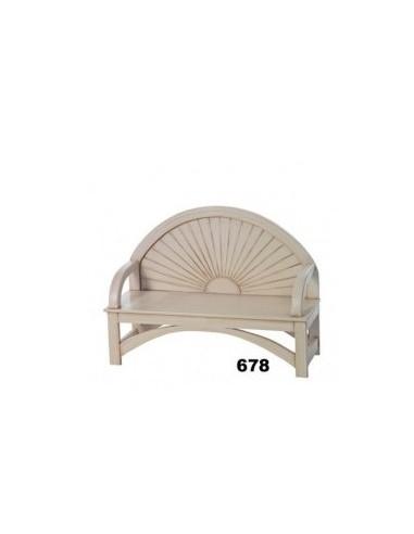 Banco blanco madera ref. 678