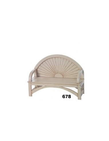 White wood bench ref. 678