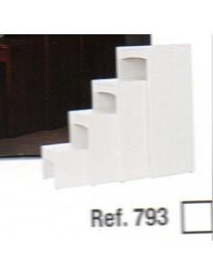 33/5000 Jeu 4 tabourets blancs ref 793
