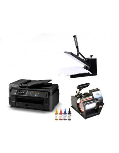 Kit sublimacion, impresora, plancha para camisetas y puzzles, plancha para tazas.