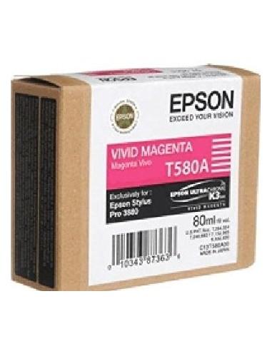 Cartucho Epson T580A00 magenta vivo