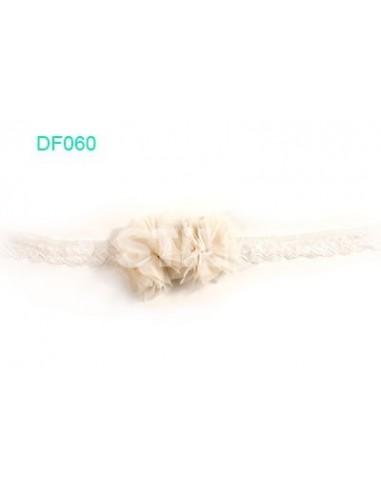 turbante dos flores beig DF060