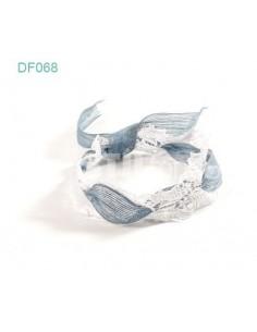 Turbante encaje azul DF068