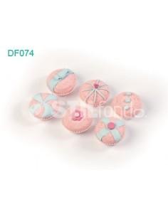 6 cupcakes rosa DF074