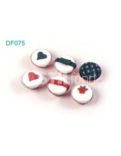 6 cupcakes blancos DF075